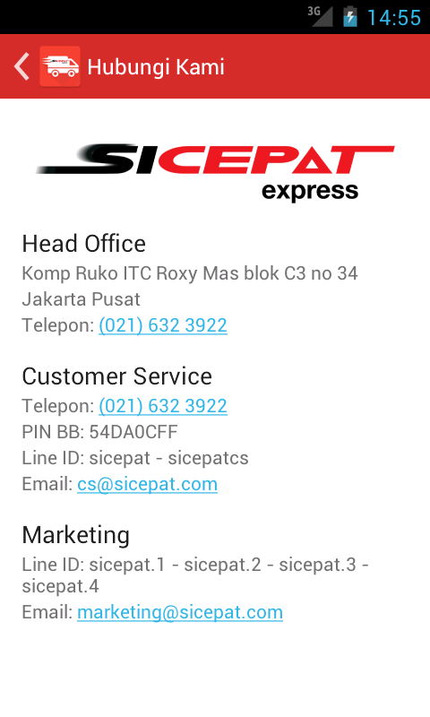SiCepat Express- screenshot