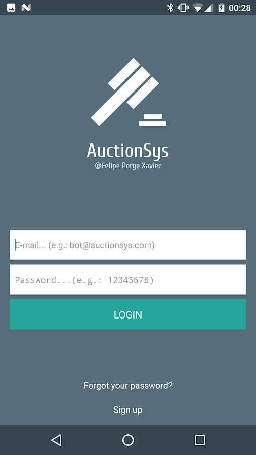 (SampleFPX) AuctionSys- screenshot