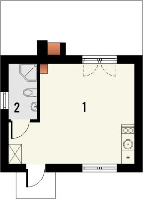 Domek 7 - Rzut parteru