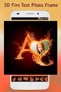 3D Fire Text Photo Frame - náhled