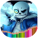 Coloring book for Undertale icon