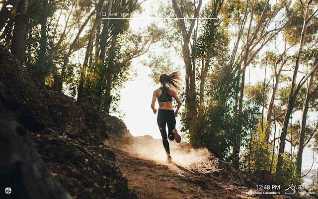 Trail Running HD Wallpapers New Tab Theme
