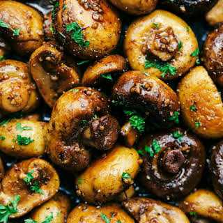 Honey Balsamic Garlic Mushrooms.