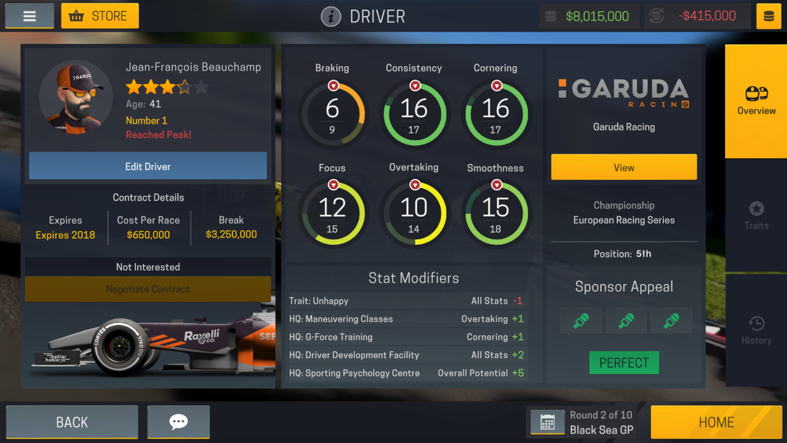 Motorsport Manager New Car Design