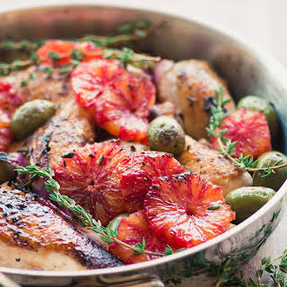 Chicken with Blood Orange and Olives.