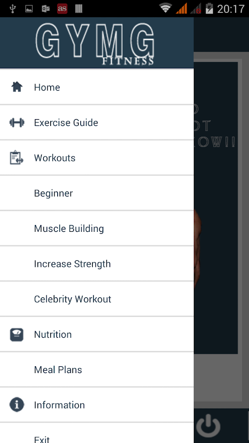 GYMG FITNESS & WORKOUT- screenshot