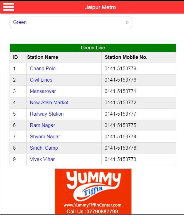 Jaipur Metro Map  screenshot Google Play