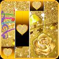 Gold Piano Flower Tiles Sparkle Jewlery Game 2019 APK
