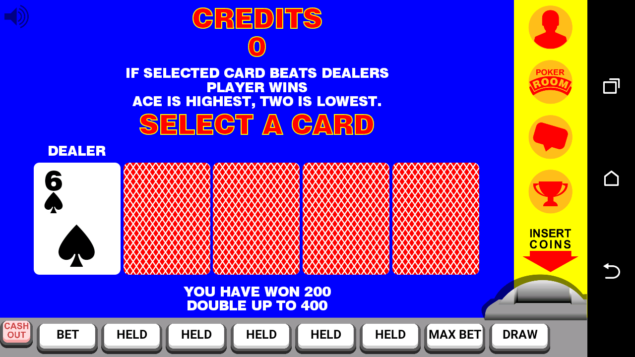 Video Poker with Double Up- screenshot