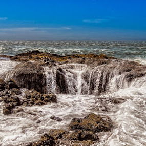 Thor's Well by Dennis Mai - Landscapes Beaches