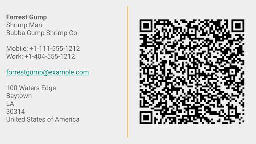 Business Card App screenshot 1