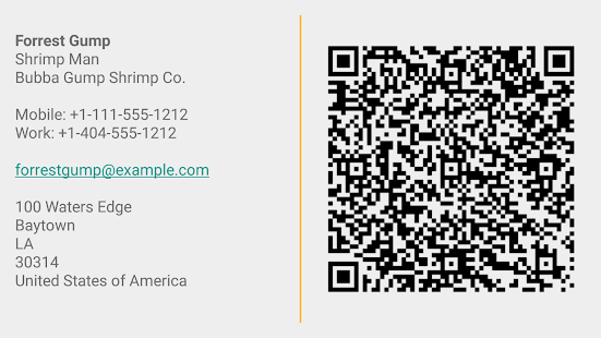 Business Card App- screenshot thumbnail