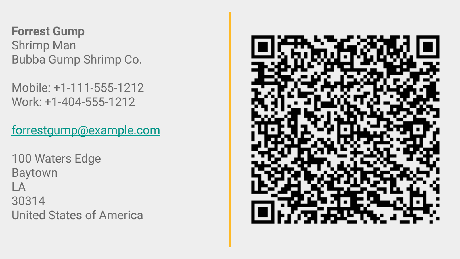 Business Card App- screenshot