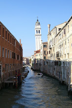 Photo: Canal near St. Mark's Square...and a leaning bell tower in the distance