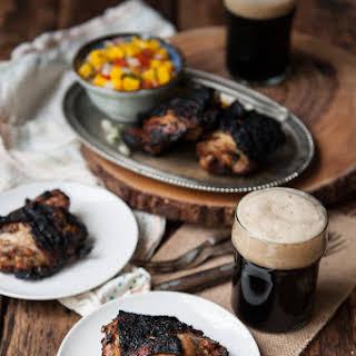 Grilled Stout Jamaican Jerk Chicken.