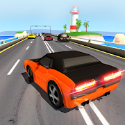 Traffic Racing Game On Beach