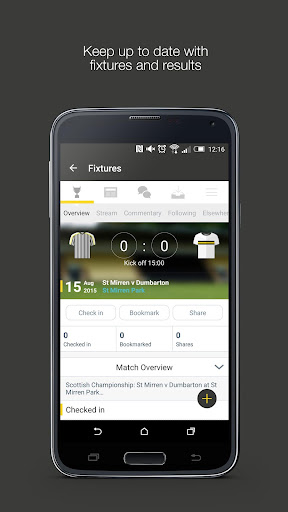 Fan App for Dumbarton FC