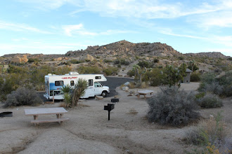 Photo: Spot 47 at jumbo rocks. The park was completely full on the previous night, forcing us to sleep in a BLM overflow area with all-night singing neighbors and 6am ATV riders. :\