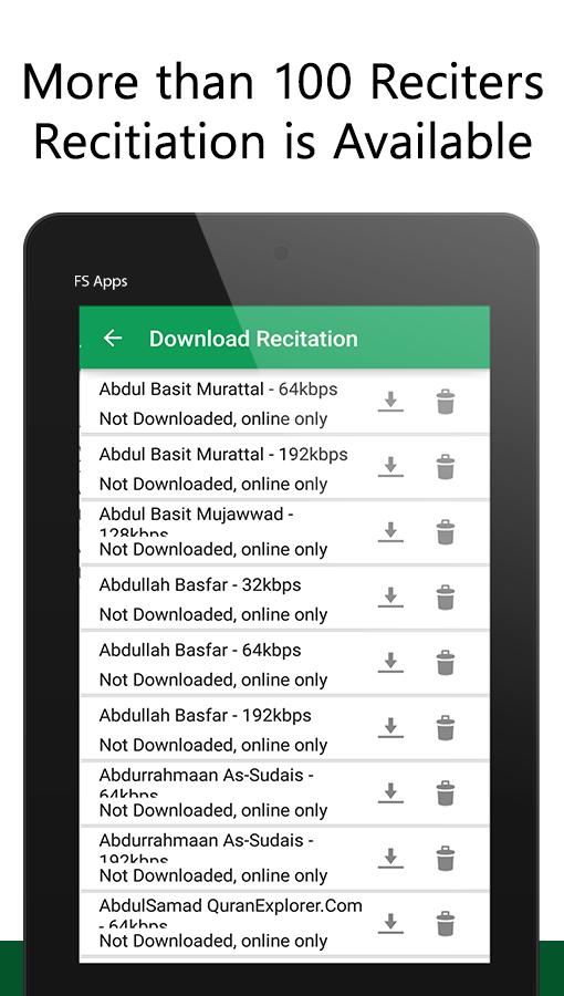 Al Quran Audio And Tafseer Screenshot