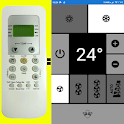 Remote Electrolux AC SIMPLE as picture NO settings icon