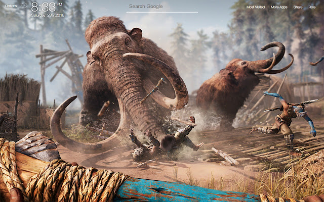 Far Cry Primal Game Fullhd New Tab Wallpapers