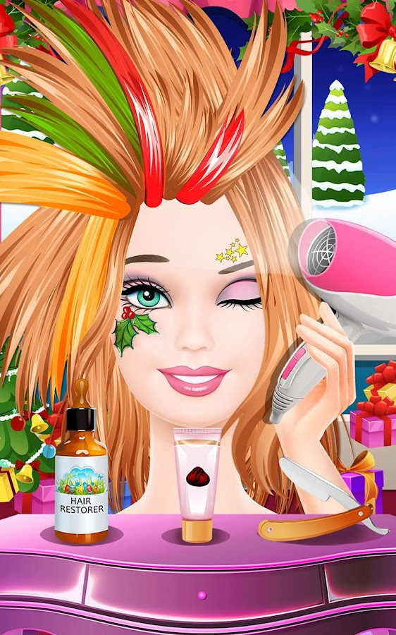 Screenshots of Fashion Doll Hair SPA for iPhone