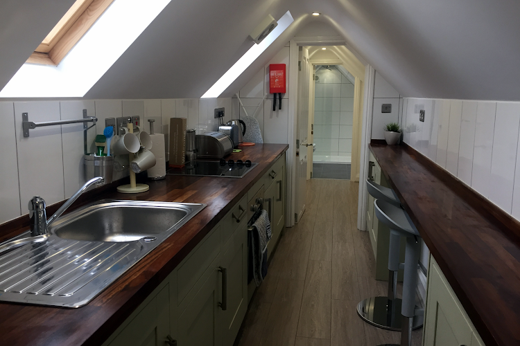 Fully equipped kitchen at Harpenden House