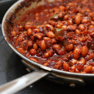 Baked Barbecue Black-Eyed Peas.