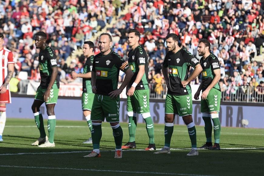 Almería-Elche en el Estadio Mediterráneo.