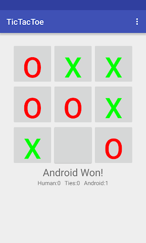 android TicTacToe Screenshot 1