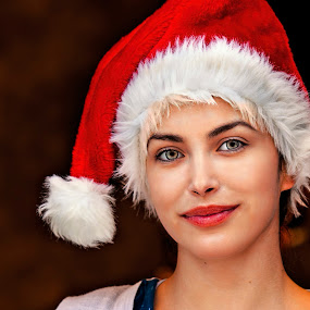 Father Christmas by Andrija Vrcan - People Portraits of Women ( father christmas, woman, portrait,  )