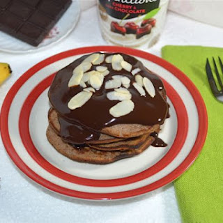 Banana Pancakes with Ricotta and Chocolate Sauce (gluten free)