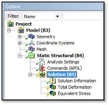 ANSYS - Вывод интересующих пользователя результатов