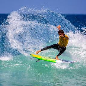CutBack by Mark Ritter - Sports & Fitness Surfing ( surf, surfer, sufing, encnitas, ocean, spray, cutback, broam 2018, california, d street, wave )