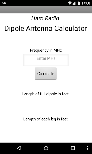 Ham Radio Dipole Calculator