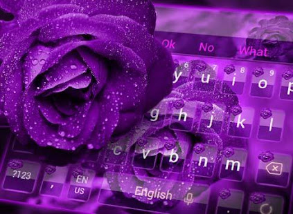 Download Purple Rose Keyboard Theme For PC Windows and Mac apk screenshot 3