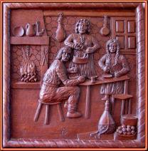 campesinos era arcaica-small. Talla en madera