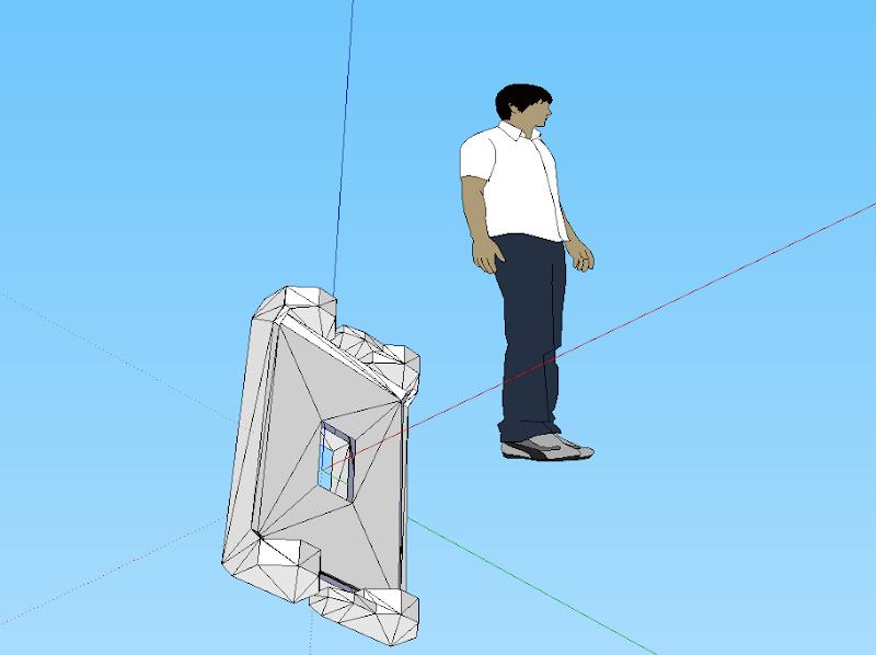 Photo: Import 3DS et export au format dae d'une partie du robot bioloid, dans sketchup
