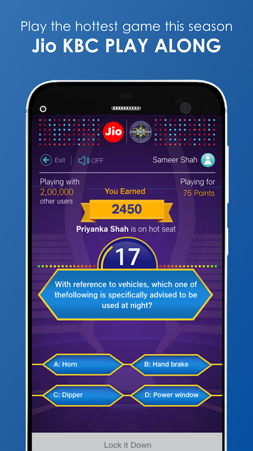 JioChat: Jio KBC Play Along- screenshot