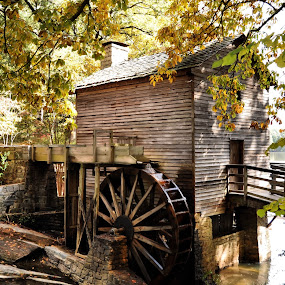 ~The Grist Mill~ by Kim Welborn - Buildings & Architecture Statues & Monuments