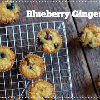 Blueberry Ginger Muffins (gluten and grain free, paleo).