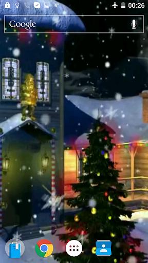 クリスマス映像を壁紙に3D