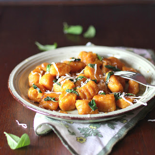 Sweet Potato Gnocchi and Sage Sauce