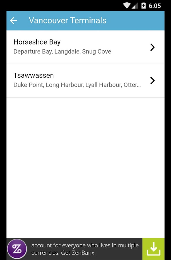 Ferries - BC Ferries Schedules- screenshot