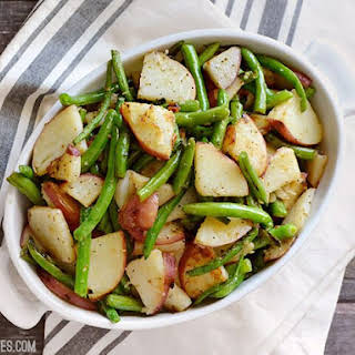 Skillet Potatoes and Green Beans.