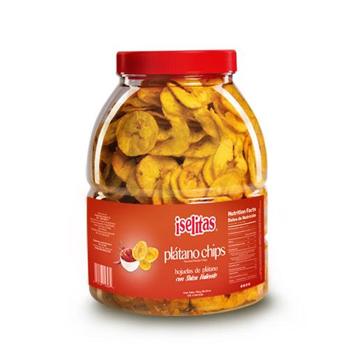 snack iselitas platano chips salsa valiente 750gr