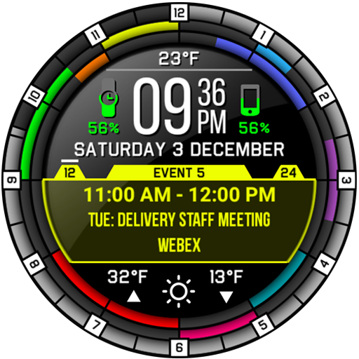 Event and Calendar Watch Face