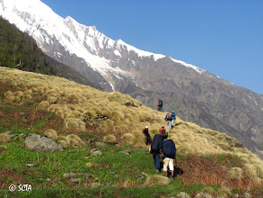 Photo: Final day's trek to Base Camp starts from Bakri Thach.. A long way to go on that day..