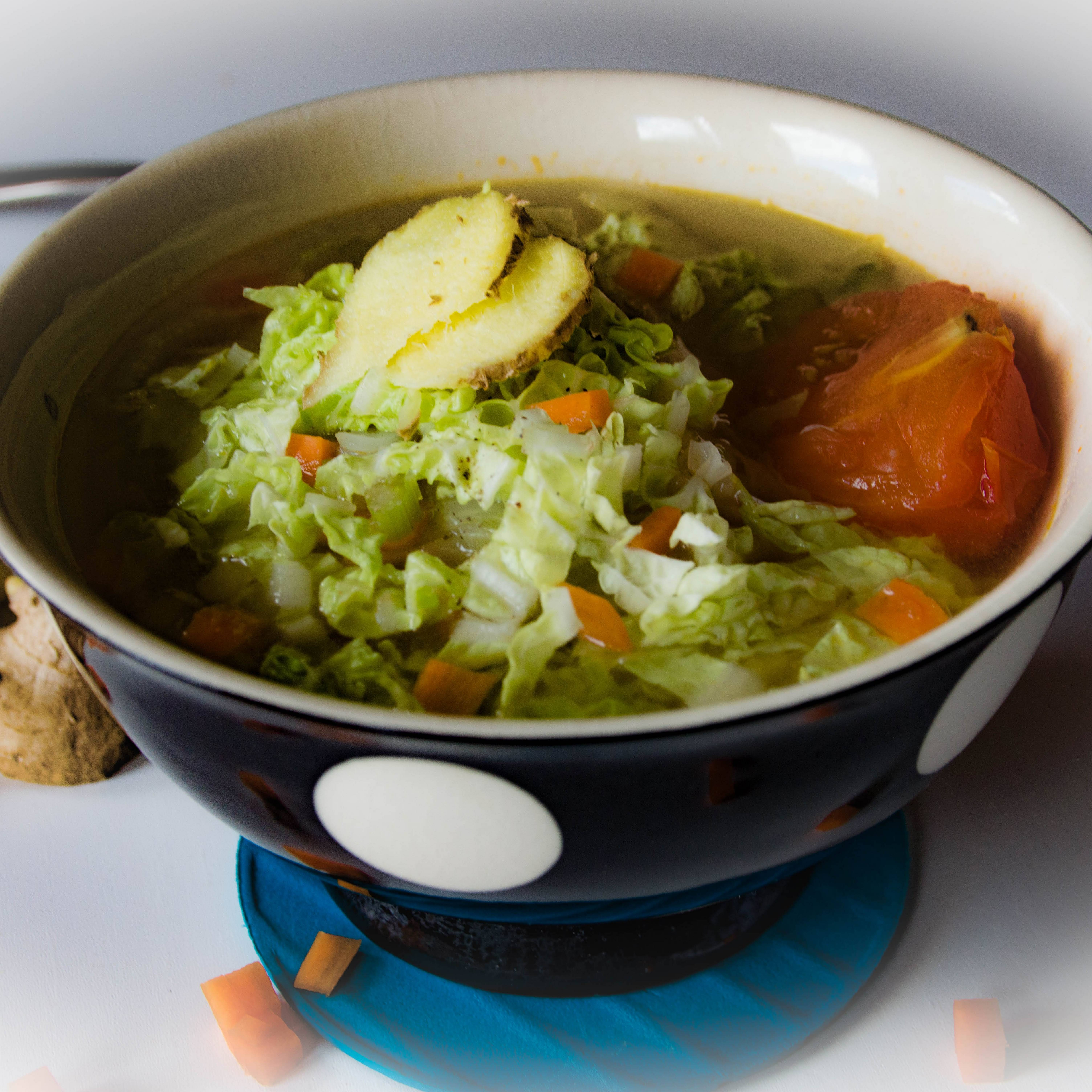 Gingery Chinese Cabbage Soup