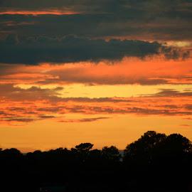 Sunset in Georgia by Rhonda Kay - Landscapes Sunsets & Sunrises